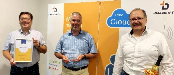 Award-Übergabe - Deutsche Telefon - Deliberate GmbH - Partner des Jahres 2020